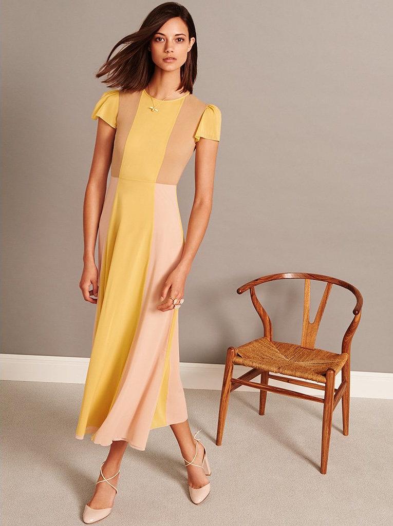 RED Valentino Pleated Skirt Maxi Dress