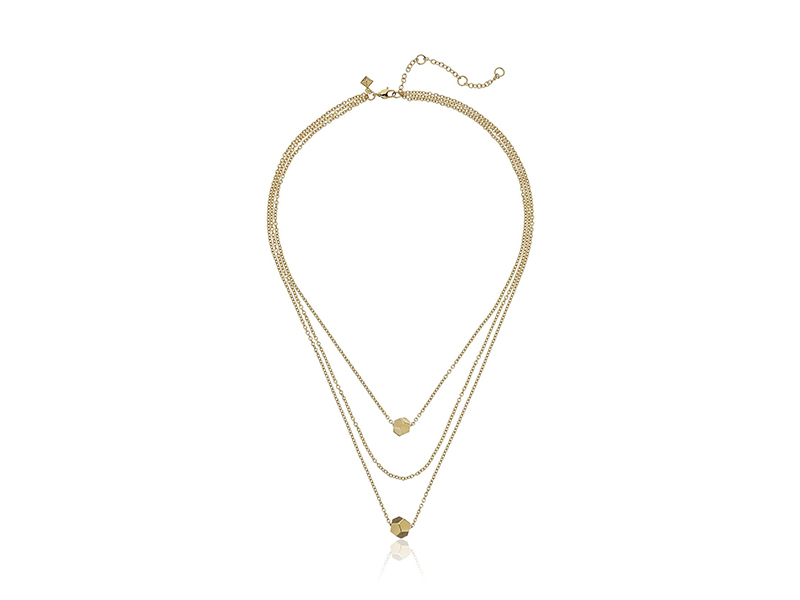 Rebecca Minkoff Layered Cube Necklace