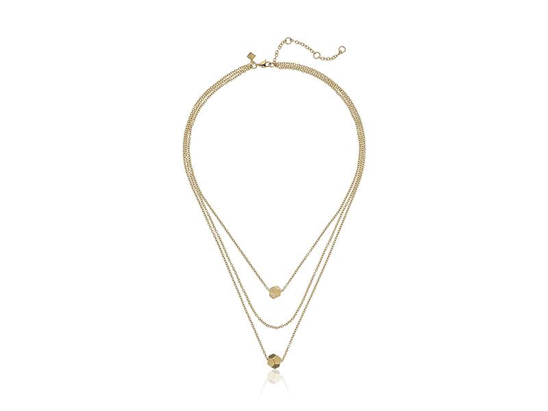 Rebecca Minkoff Layered Cube Necklace