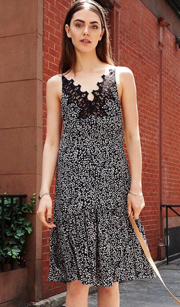 Rebecca Taylor Pop Flower Slip Dress