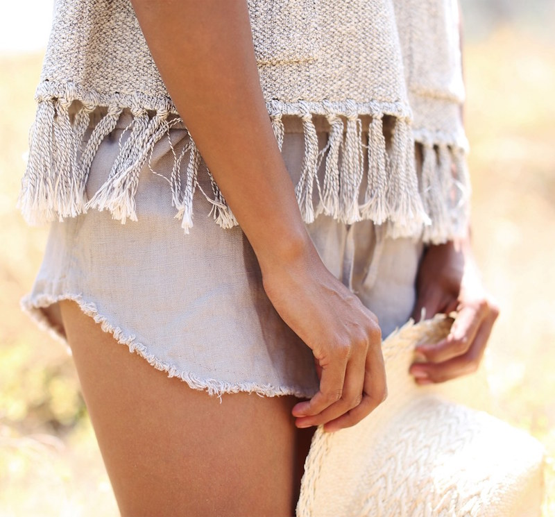 SINCERELY JULES Lea Drawstring Cotton Shorts