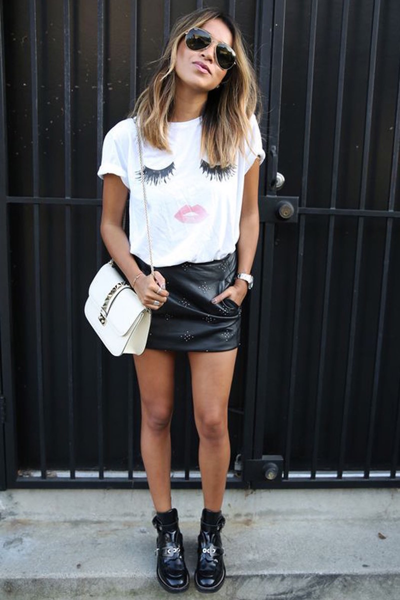 SINCERELY JULES Lips & Lashes Graphic Tee