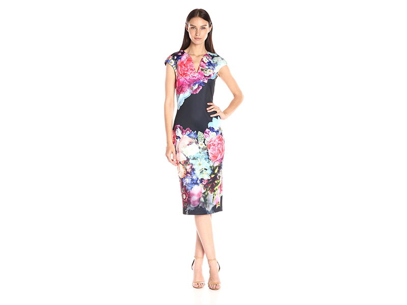 Ted Baker Brynee Focus Bouquet Neoprene Dress