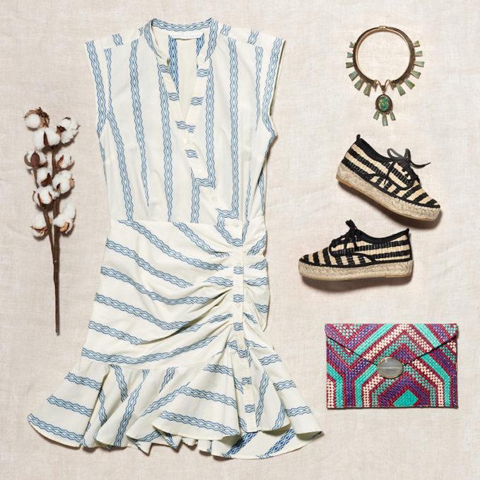 Veronica Beard Piece & Co Ruched Shirtdress