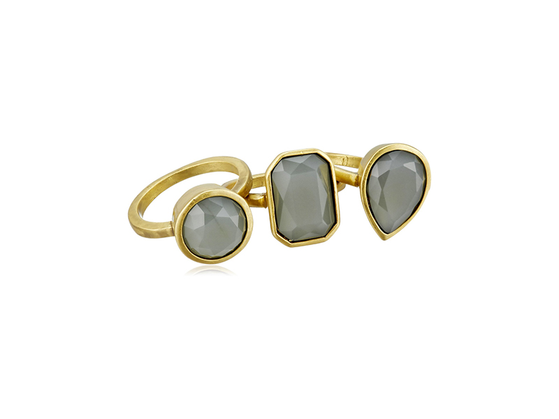 Vince Camuto Stone Grey Stackable Ring