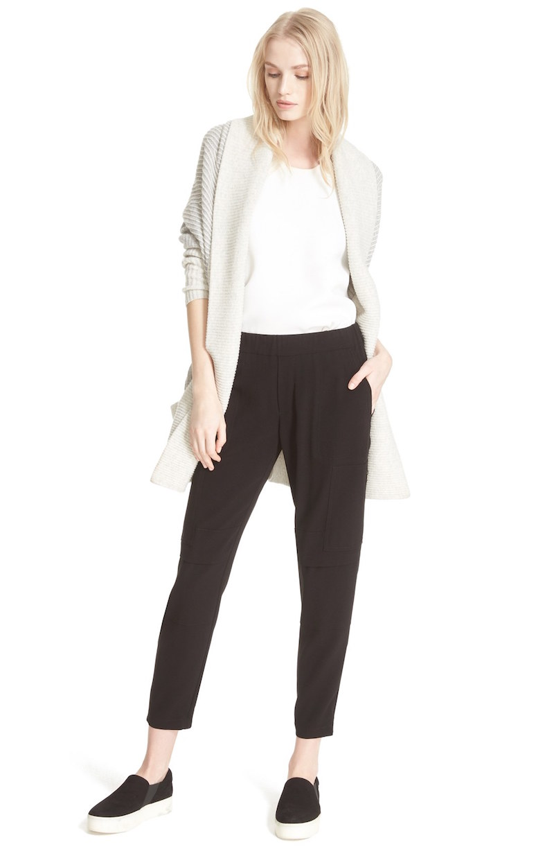 Vince Colorblock Rib Circle Wool & Cashmere Cardigan