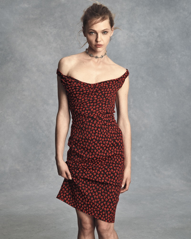 Zac Posen Fitted Floral-Print Cocktail Dress