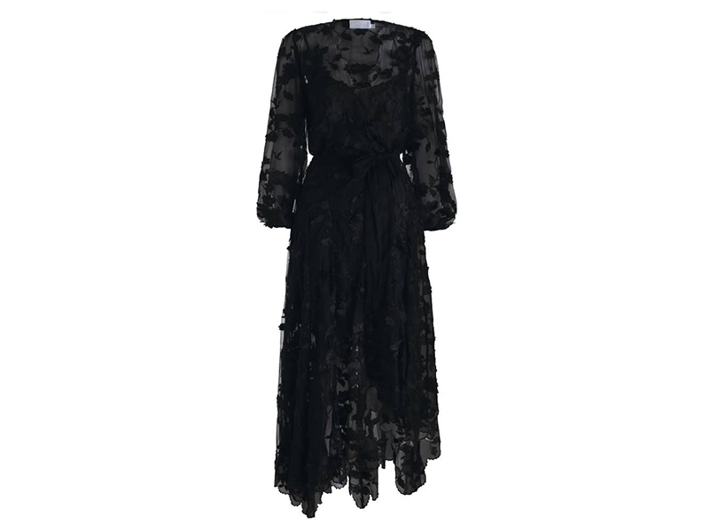 Zimmermann Wrap-effect Fil Coupé Silk Maxi Dress