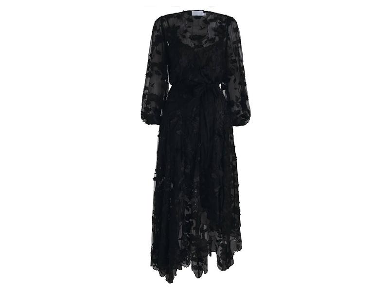 Zimmermann Wrap-effect Fil Coupé Silk Maxi Dress