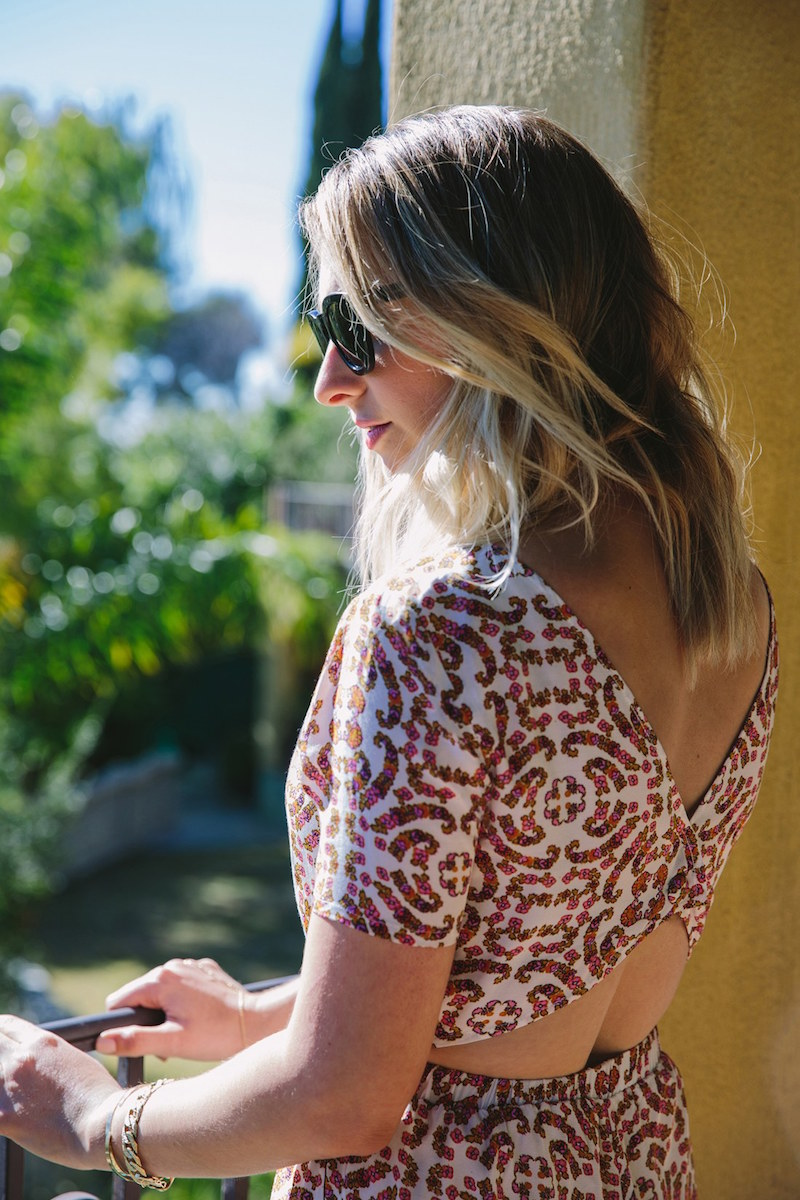 cupcakes and cashmere Cameron Mosaic Print Romper