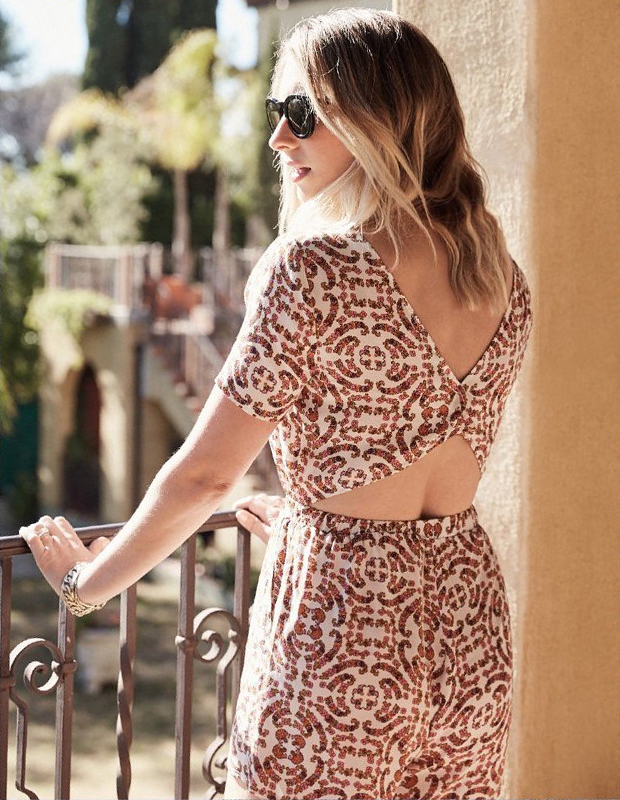 cupcakes and cashmere Cameron Printed Romper