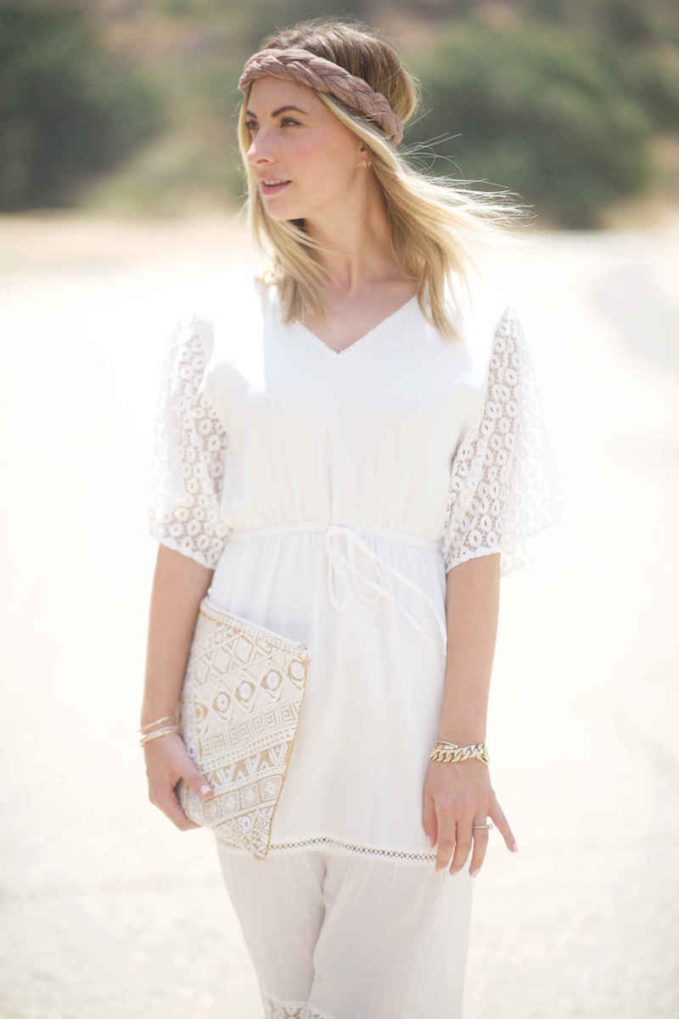 cupcakes and cashmere Sheila Lace Mix Maxi Dress