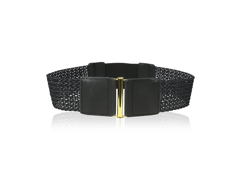 elise m. Giselle Rattan Woven Belt with Elastic Back