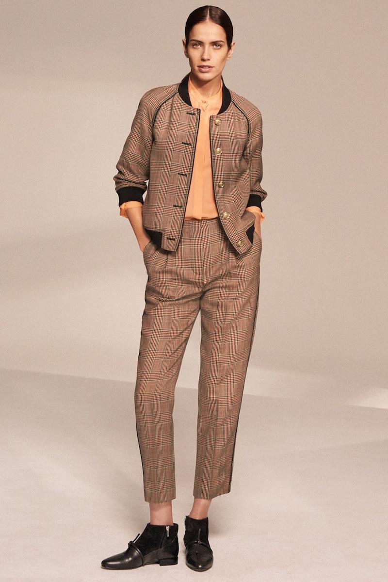 3.1 Phillip Lim Pleated Glen Plaid Crop Wool Pants