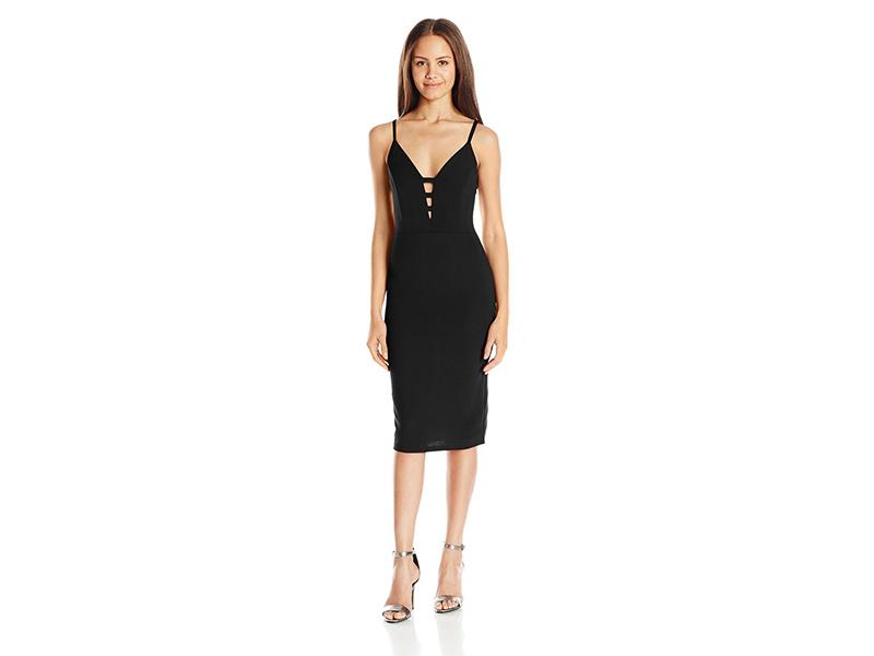 ALMOST FAMOUS Lattice-Front Dress