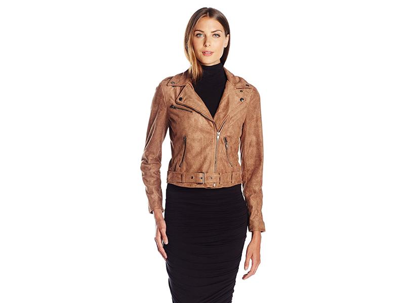 ASTR Velma Faux Suede Moto Jacket