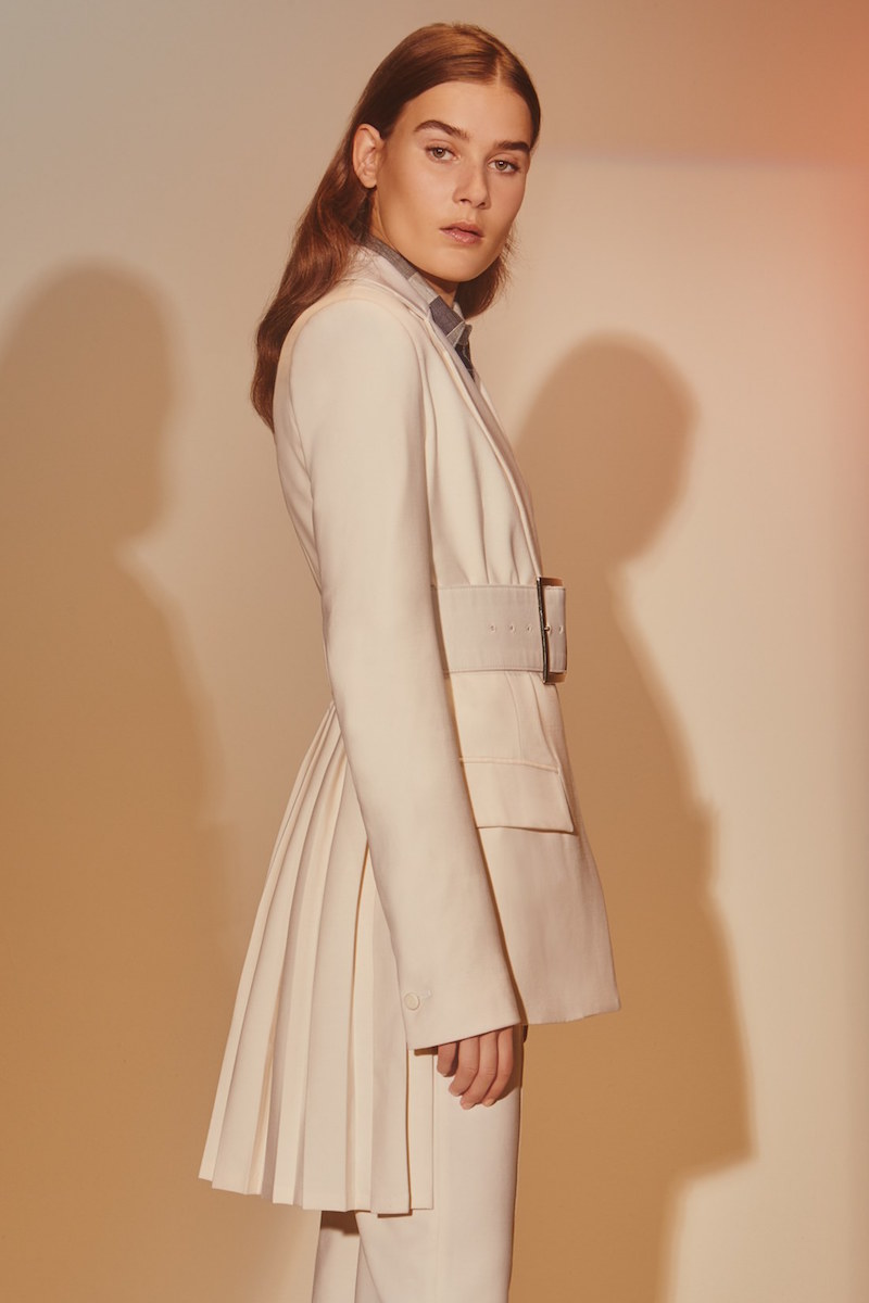 Adam Lippes Structured Pleat Back Coat