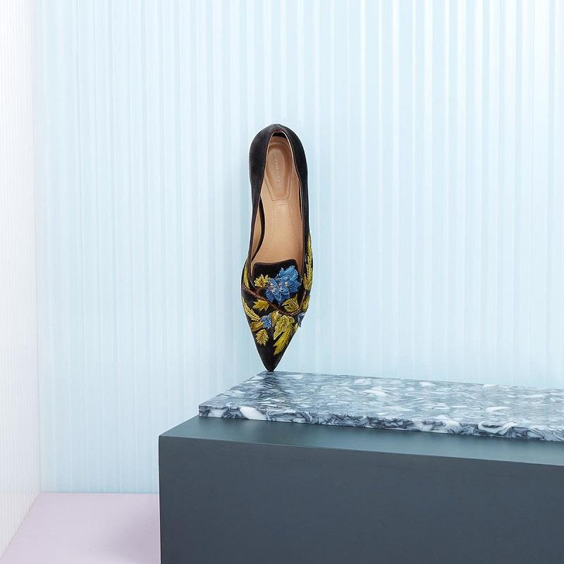 Alberta-Ferretti Floral velvet loafers