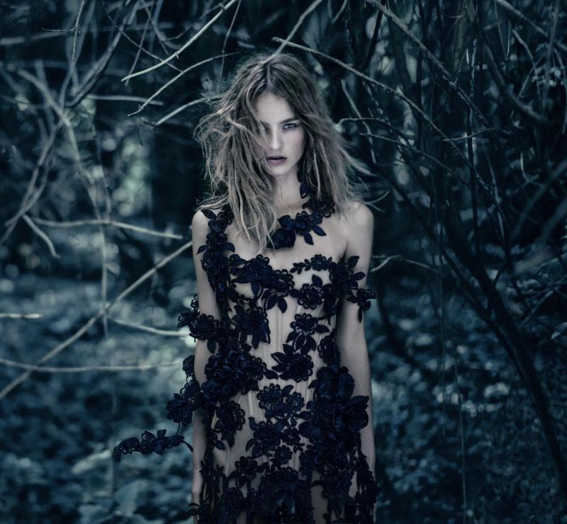Alexander McQueen McQueen Parfum Campaign feat. Maartje Verhoef