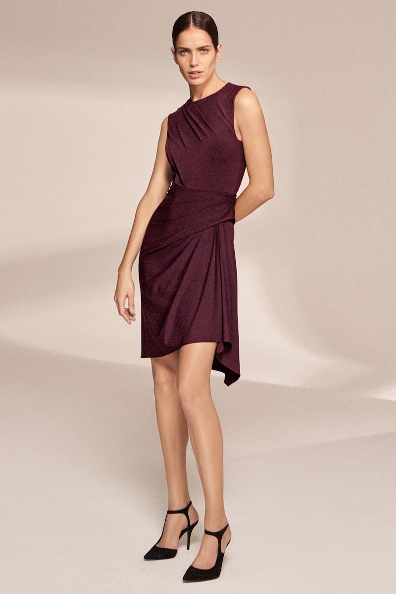Alexander Wang Sleeveless Draped Jersey Dress