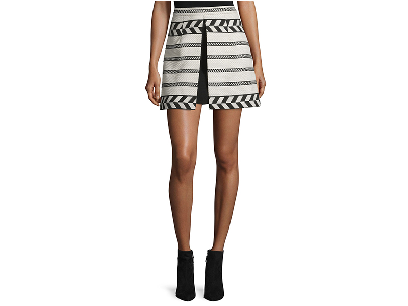 Alice + Olivia Daysi Abstract-Patterned A-Line Skirt