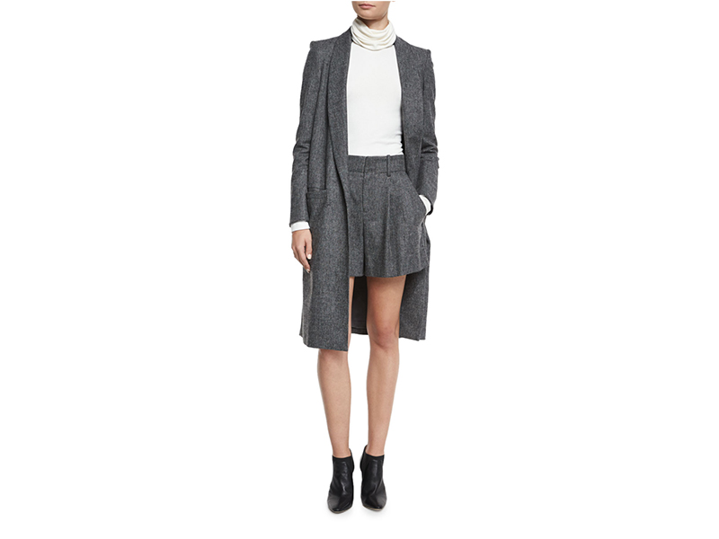 Alice + Olivia Kylie Long Shawl-Collar Jacket