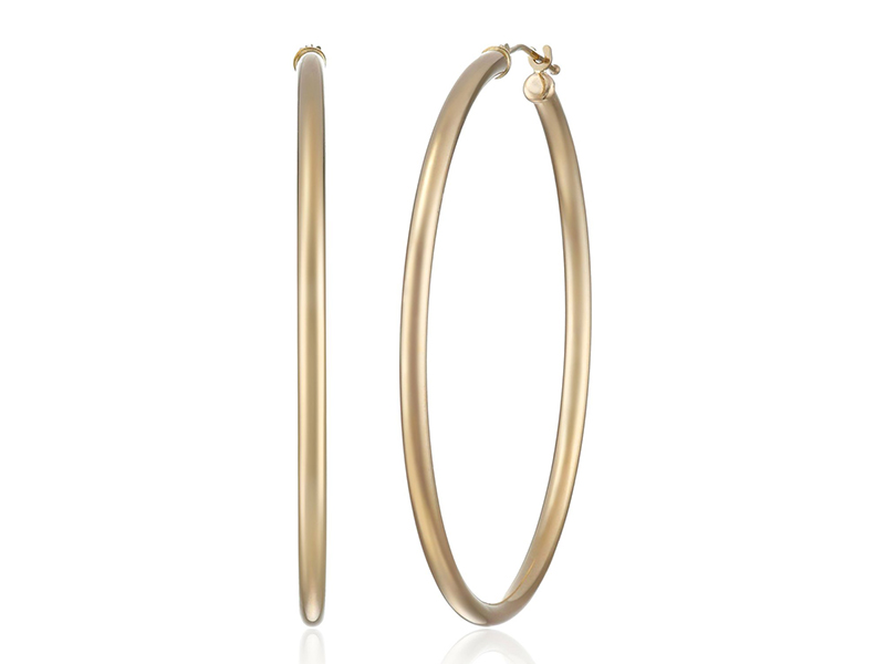Amazon Collection 10k Gold Hoop Earrings