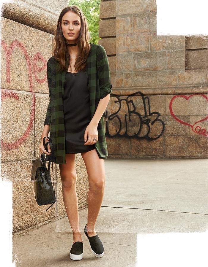 BB Dakota Holly-Anne Buffalo Plaid Dress