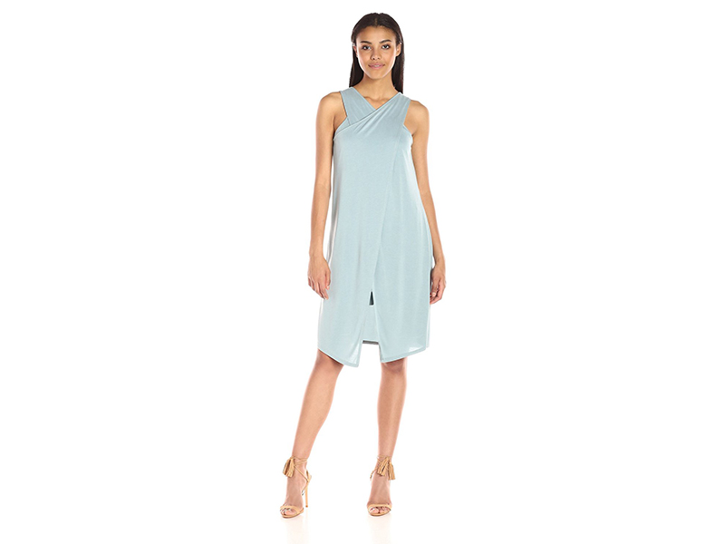 BCBGMax Azria Louren Cross Over Dress Center Slit