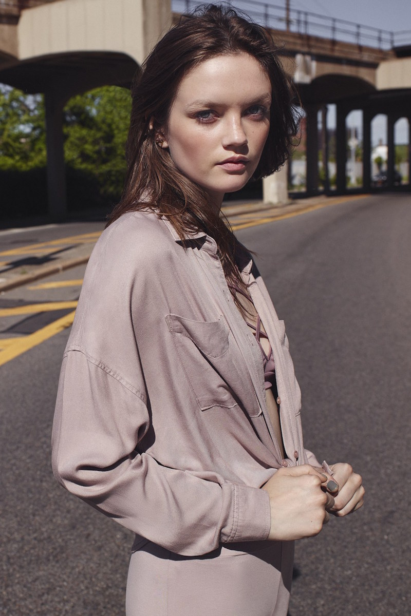 BP. Slouchy Button Front Shirt