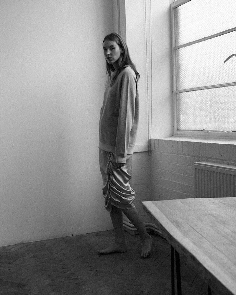 Baserange Mid-length Nador Ruched Skirt