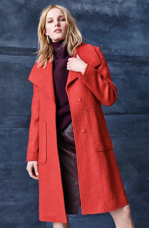 Bernardo Textured Long Coat