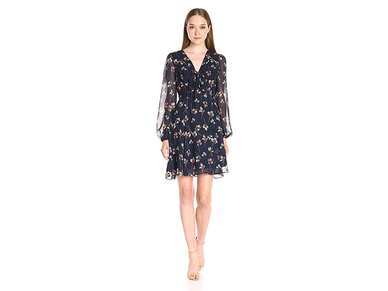 Betsey Johnson Poly Printed Chiffon Dress