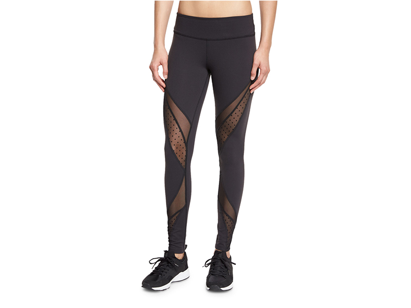 Beyond Yoga Swiss-Dot Mesh-Panel Long Sport Leggings
