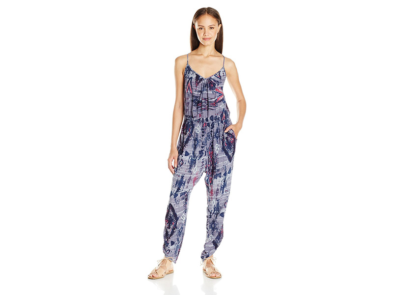 Billabong Take Me Away Printed Jumpsuit