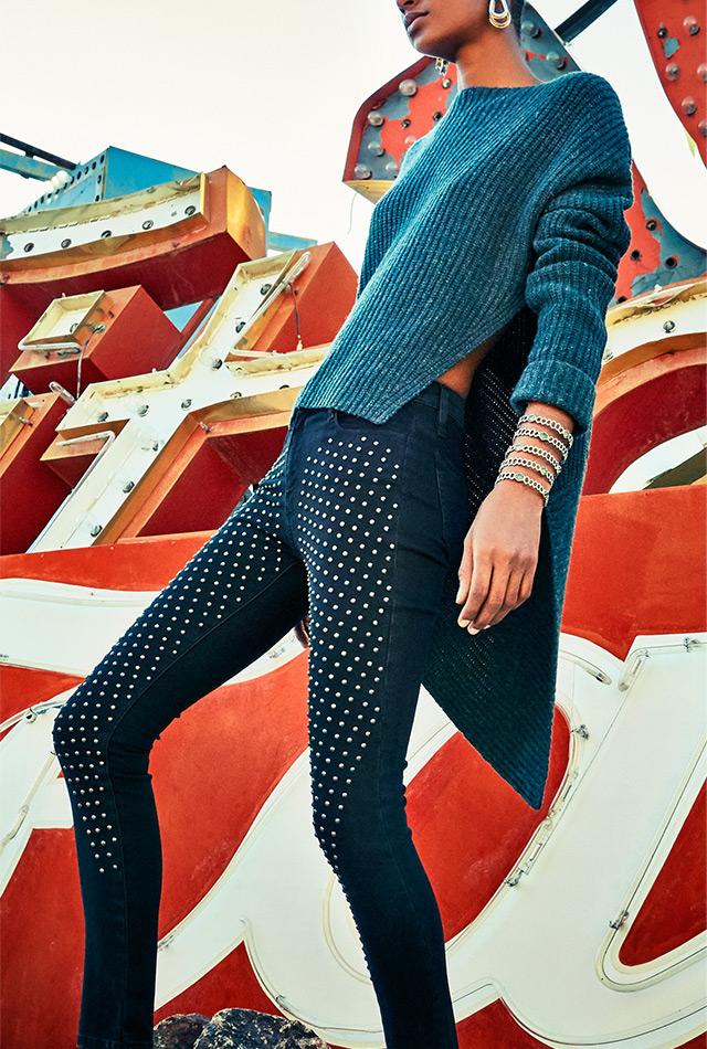 Brockenbow Reina Studded Skinny-Fit Jeans