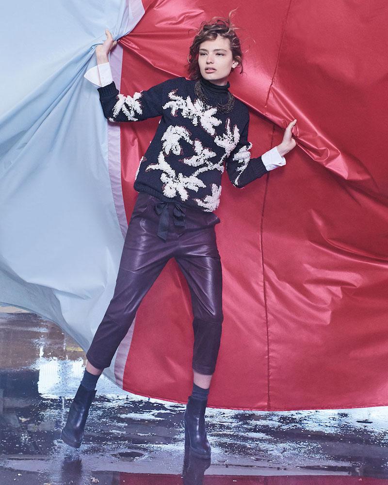 Brunello Cucinelli Piuma Floral Pullover Sweater