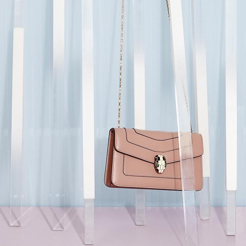 Bulgari Serpenti forever leather shoulder bag