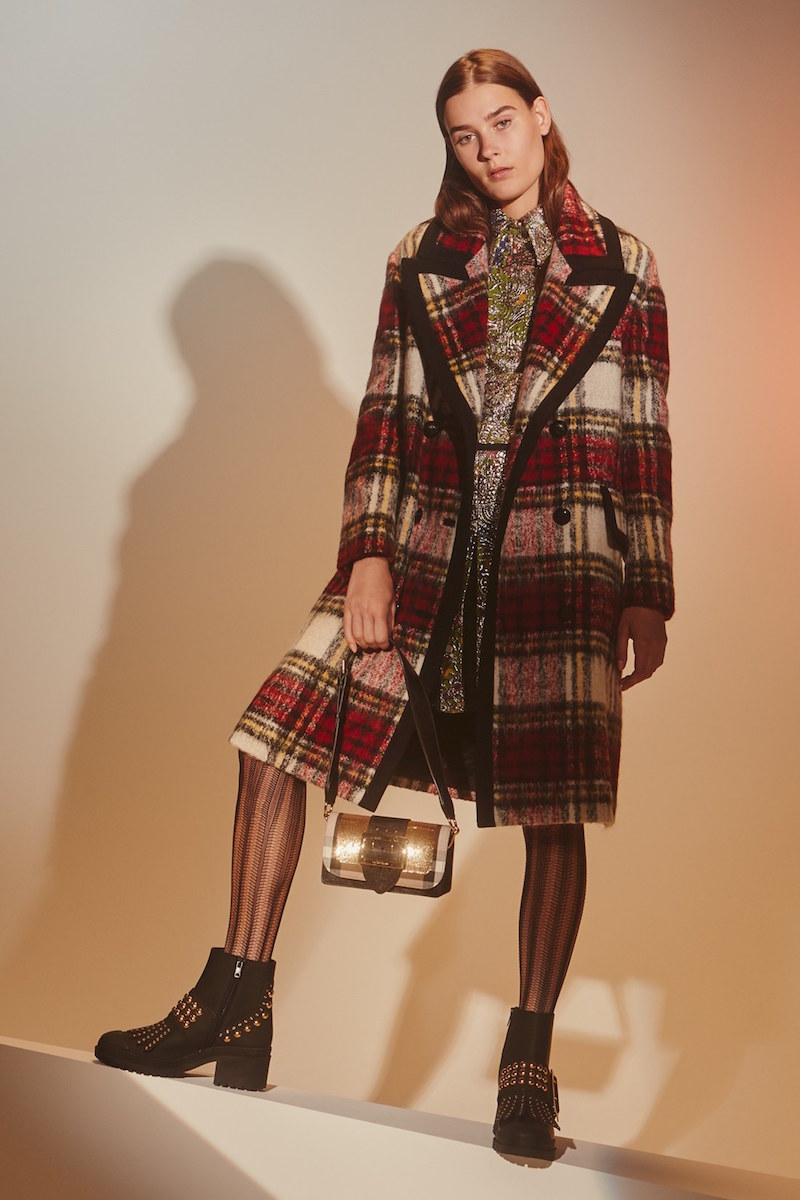 Burberry Prorsum Tartan Plaid Wool Blend Coat