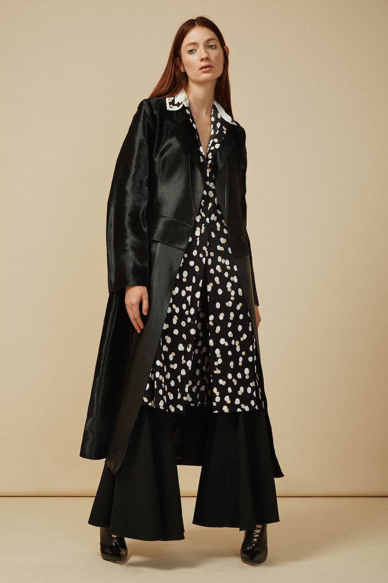 Calvin Klein Collection Hubert Calf Hair Trench Coat