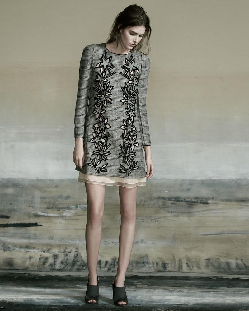 Carolina Herrera Price of Wales Plaid Shift Dress_1