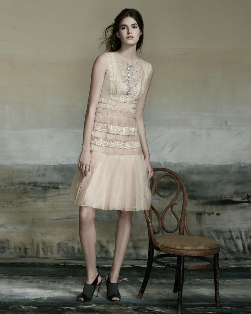 Carolina Herrera Sleeveless Bateau-Neck Embroidered Dress_1