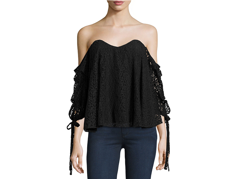 Caroline Constas Gabriella Off-The-Shoulder Lace Bustier Top_1