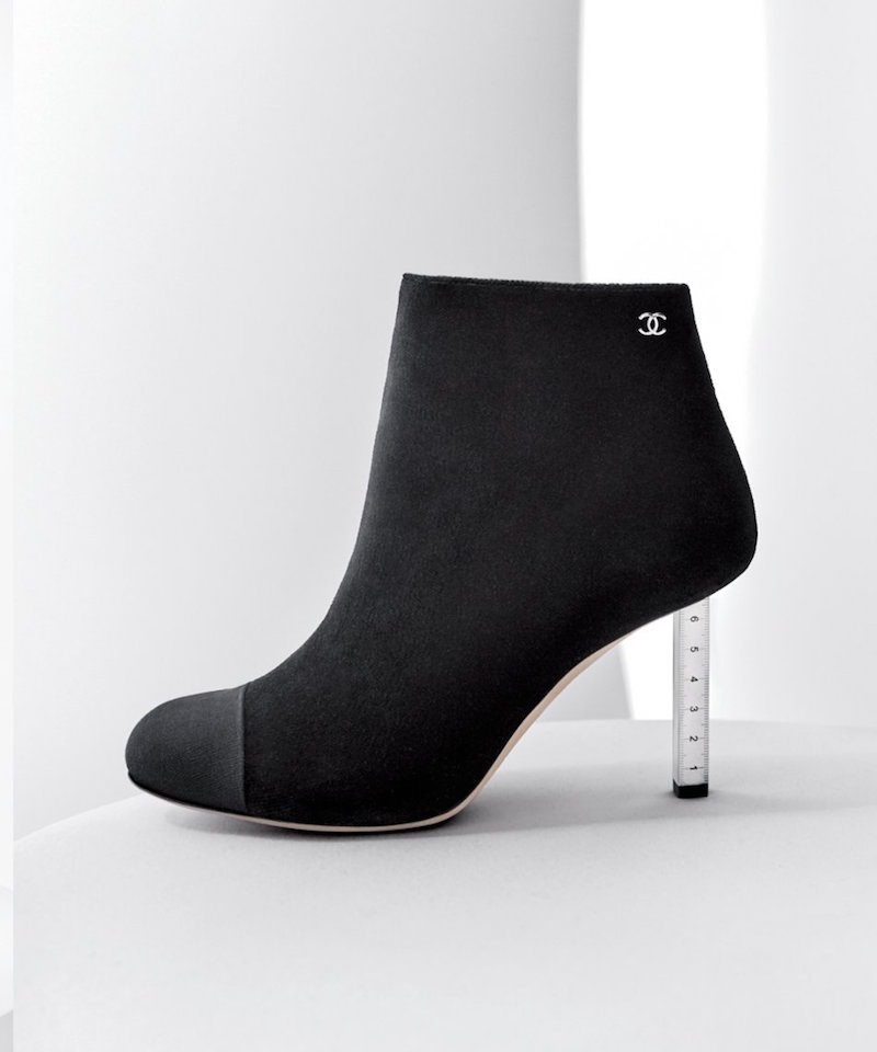 Chanel Velvet Bootie with Grosgrain Toe-cap