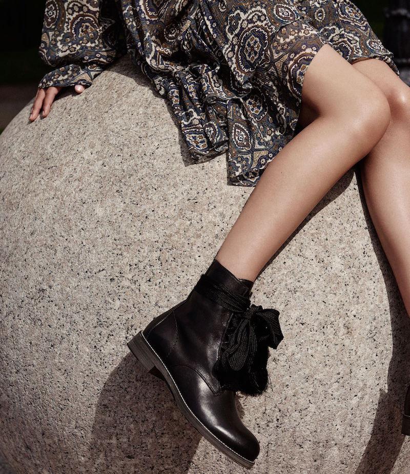 Chloé Lace-Up Ankle Boots