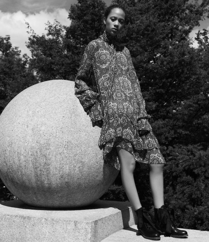 Chloé Tieneck Silk Plissé Dress