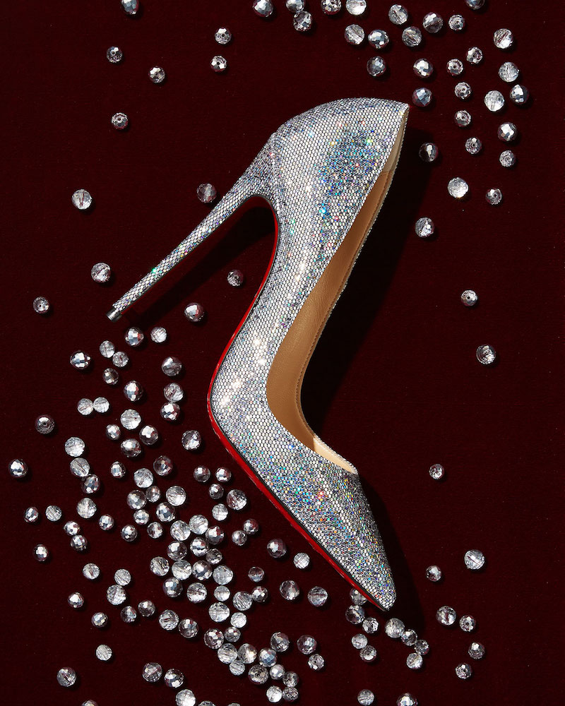 Christian Louboutin So Kate 120mm Glitter Red Sole Pump