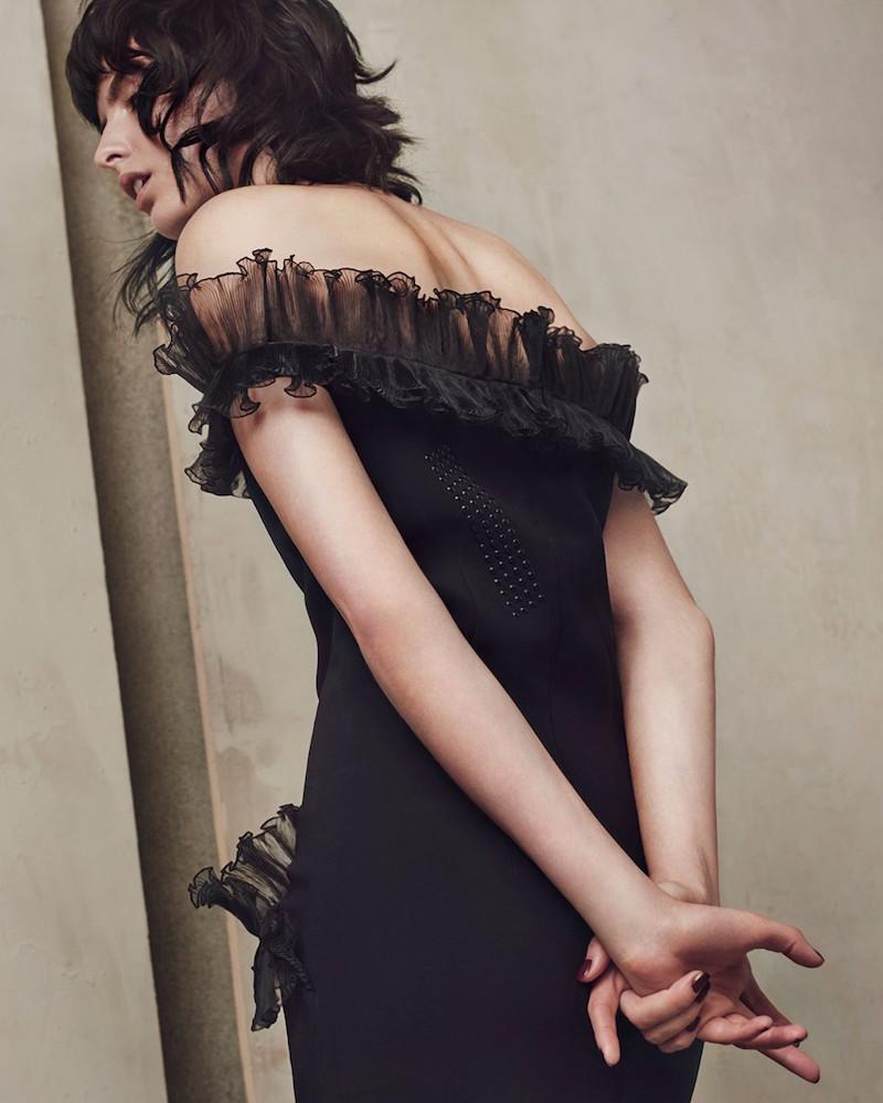 Christopher Kane Off-the-shoulder Ruffled Mini Dress