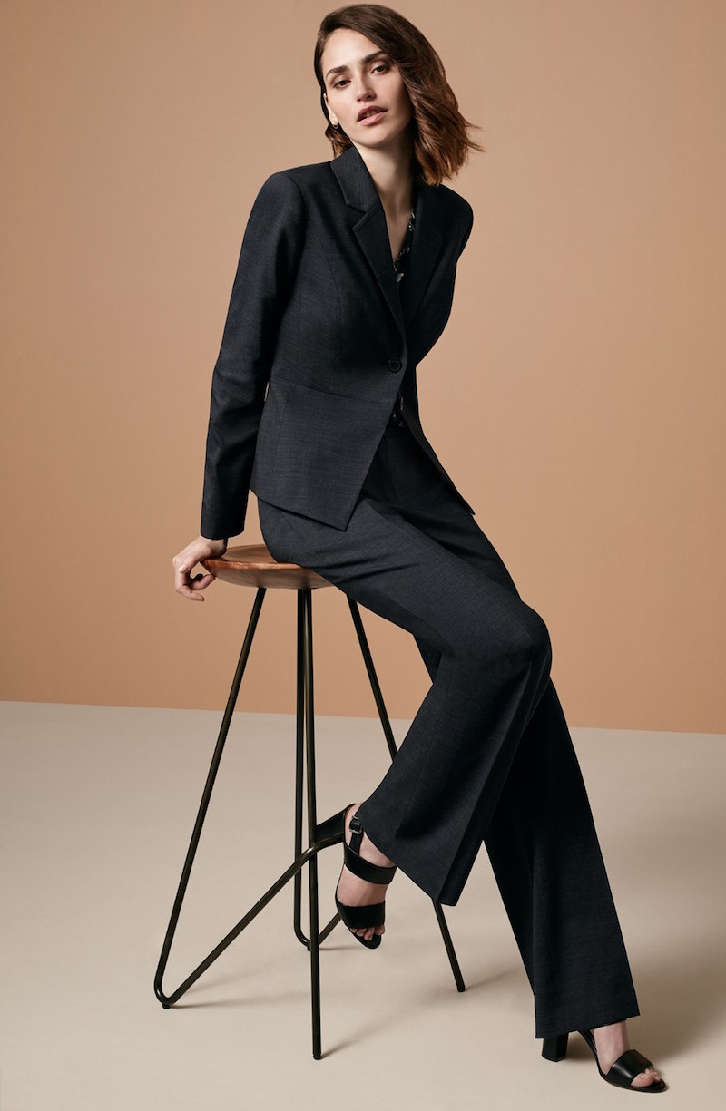 Classiques Entier Contour Waist Stretch Wool Suit Jacket