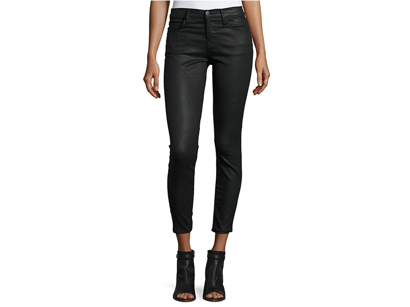 Current/Elliott The Stiletto Coated Cropped Jeans